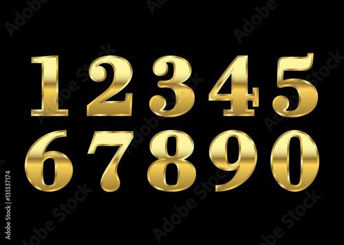Fotografía  Gold numbers set