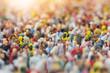 Leinwandbild Motiv Crowd of People in the Sun