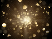 Gold Bokeh Background
