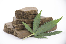 Blocks Of Hashish, A Medical Marijuana Concentrate Isolated With