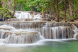 Nature landscape of waterfalls in green National Park in Thailan