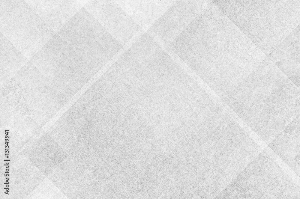 Fototapeta white background paper with gray textured abstract pattern of geometric angles and lines in diamond block shapes