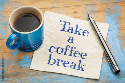 Take Break Coffeebreak : Take a coffee break napkin concept u kaufen sie dieses foto und