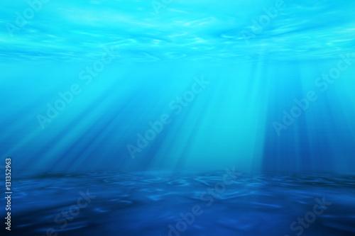 Staande foto Zee / Oceaan Ray light of underwater scene for seascape background.