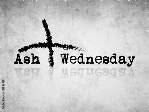 Fotografie, Obraz  Ash Wednesday background
