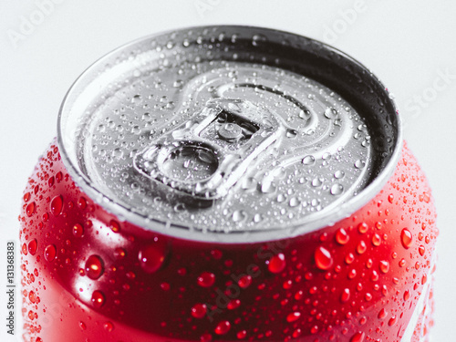 Close-up cold aluminum drink can Canvas