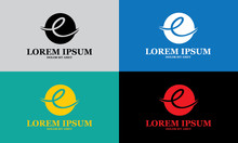 Round Abstract Letter E Company Logo