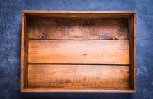 Vintage Empty Wooden Box Top V...