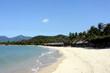 White beach on the island in Vietnam Hot Dam