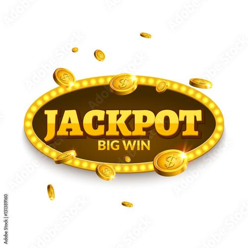 Jackpot gambling retro banner decoration плакат