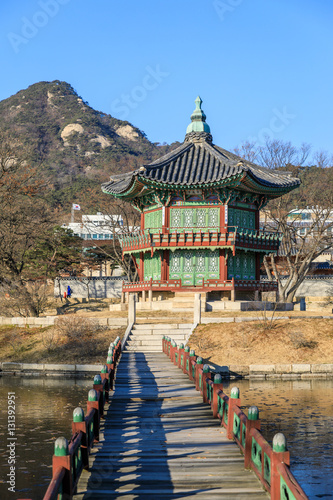 Foto op Canvas Seoel Gyeongbok palace in Seoul City, South Korea