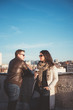 Couple on the rooftop