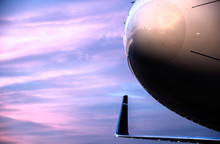 Aircraft Nose (radome) At Sunset:  Light Edit With NR