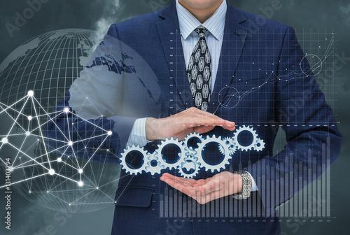 Fotografía  Business management concept.