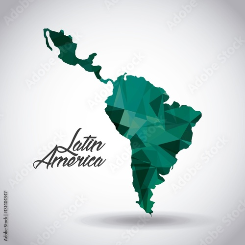 Tableau sur Toile latin america map icon over white background