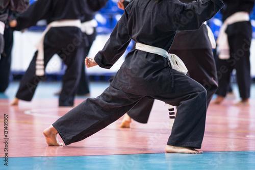 Fotografie, Obraz  allenamento in una palestra di arti marziali