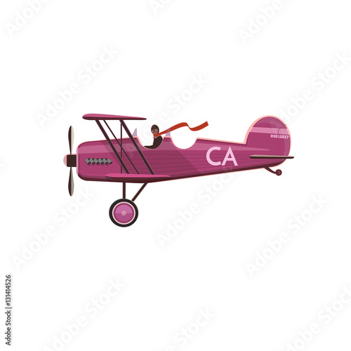 Photo Biplane icon, cartoon, style