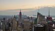 New York City aerial skyline time lapse.