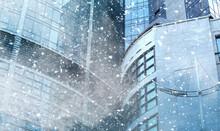 Snow Storm And Skyscraper On B...