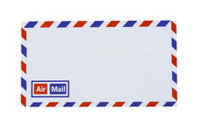 Airmail Envelope Isolated On W...