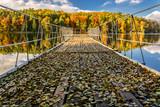 Fototapeta Pomosty - Pomost nad jeziorem Łagowskim w Łagowie jesienią przy ośrodku wypoczynkowym
