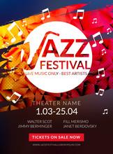 Vector Musical Flyer Jazz Fest...