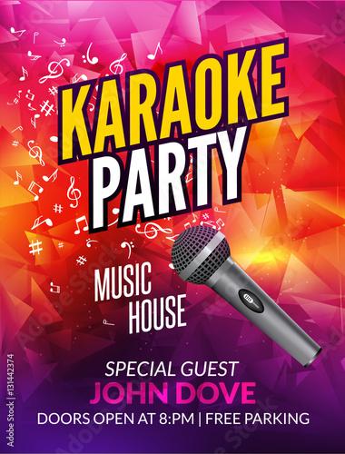 Karaoke party invitation poster design template karaoke night flyer karaoke party invitation poster design template karaoke night flyer design music voice concert stopboris Choice Image