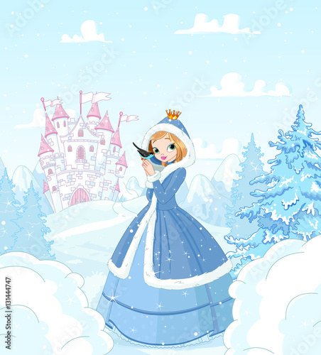 Poster Magie Winter Princess