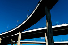 Silhouette Of Highway Ramps On...