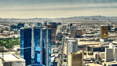 Tuinposter Las Vegas The Strip of Las Vegas - Hotels Aereal View