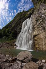 Huge Gegsky Waterfall Flowing ...