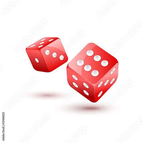 Photo  Dice vector design isolated on white