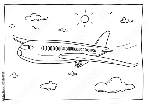 Ausmalbild Flugzeug Buy This Stock Illustration And Explore