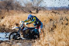 Enduro Bike Rider Stuck In The...