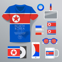 North Korea : National Corporate Products : Vector Illustration