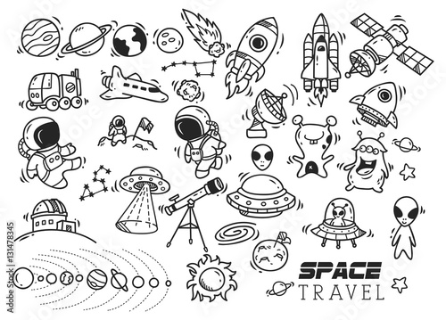 Photo  space themed doodle
