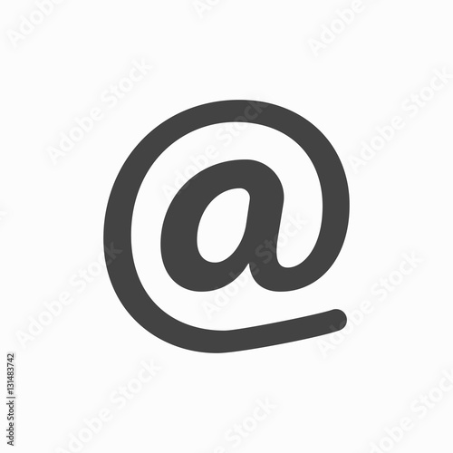 Fototapety, obrazy: Email symbol - vector icon. At sign
