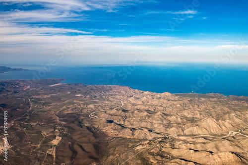 Poster Turquoise Baja California Sur Mexico aerial view