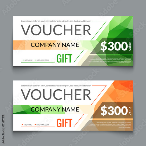 Gift Voucher Market Offer Template Layout With Colorful Modern Triangle Business Design Certificate Special Coupon