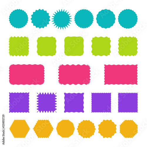 set of stamps badges and labels templates buy this stock vector