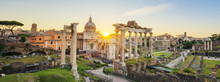 Roman Forum In Rome, Italy Dur...
