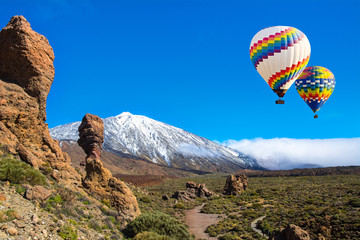 Roque Cinchado with Teide, Tenerife, Canary Islands, Spain