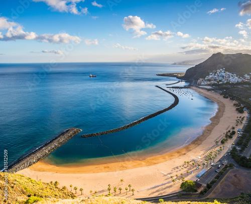 Deurstickers Canarische Eilanden Amazing view of beach las Teresitas, Tenerife, Canary Islands