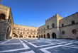 Rhodes Island, Greece, a symbol of Rhodes, of the famous Knights Grand Master Palace (also known as Castello).