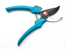 Green Secateurs Isolated
