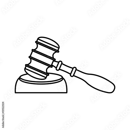 Gavel Wooden Isolated Icon Vector Illustration Design Buy This