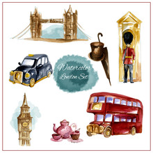 Watercolor London Set