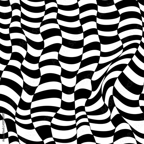 Seamless Pattern Striped Background Repeating Black White
