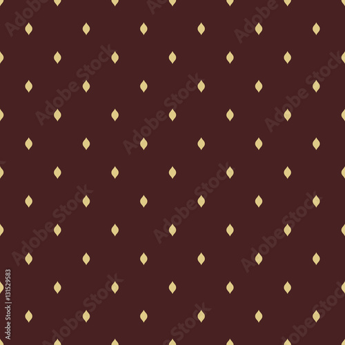 Keuken foto achterwand Leder Seamless geometric pattern. Modern ornament with dotted elements. Brown and golden pattern