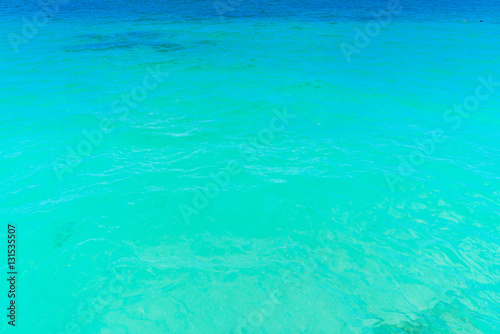 Stickers pour portes Vert corail Beautiful tropical Maldives island with white sandy beach and se